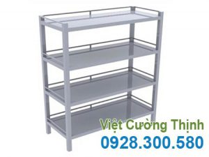 Kệ Inox Phẳng 4 Tầng