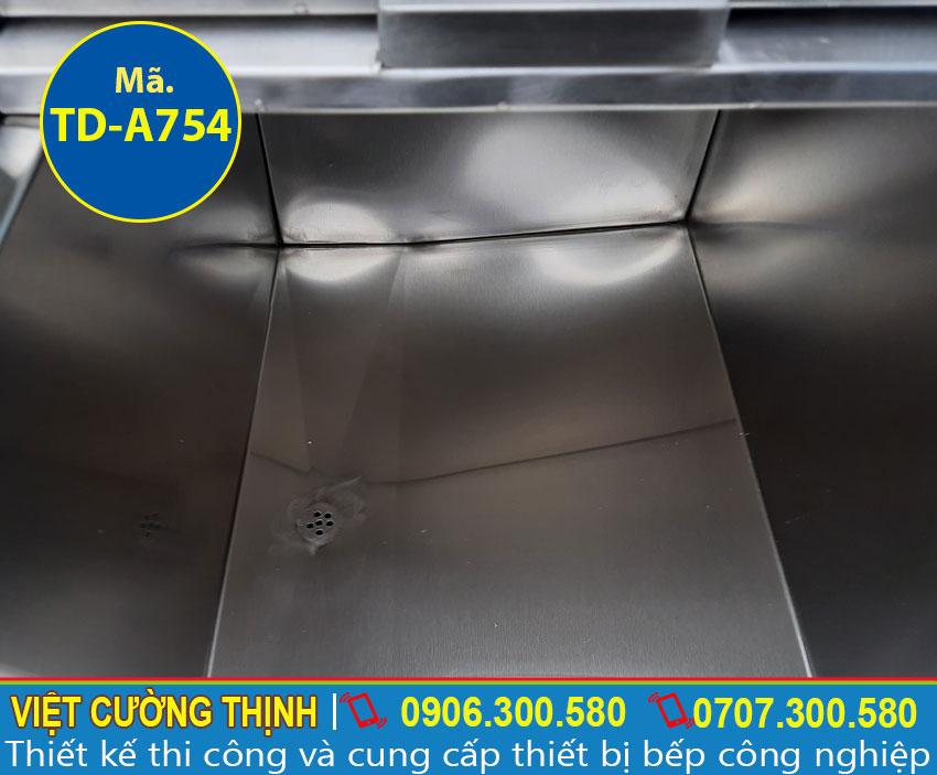 Thùng đựng đá âm bàn inox 304 chất lượng tại VCT