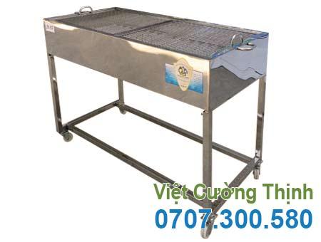 Bếp nướng than inox ngoài trời mã LN-07 tại Việt Cường Thịnh.