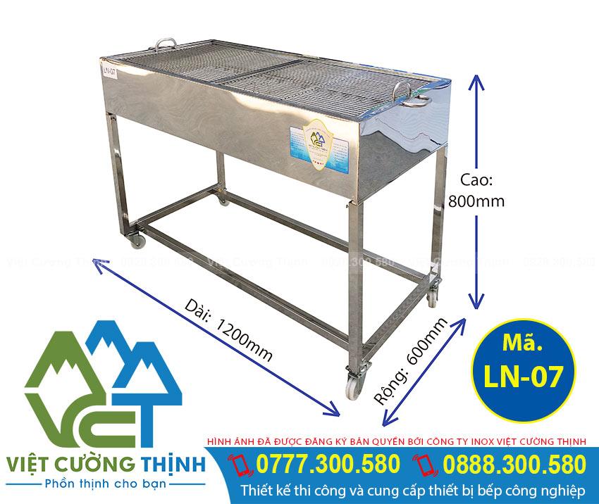 Bếp nướng than inox mã LN-07, Bếp than nướng bbq , lò nướng than inox ngoài trời Việt Cường Thịnh lựa chọn hoàn hảo cho mọi món nướng.