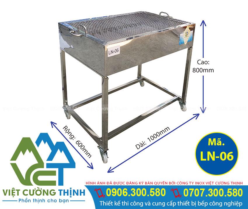 Lò nướng than inox, Bếp nướng than củi, bếp than củi nướng không khói Việt Cường Thịnh
