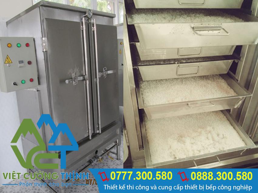 Việt Cường Thịnh chuyên cung cấp và sản xuất tủ hấp cơm công nghiệp cao cấp, chất lượng tại Tp.hcm