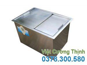 Thùng chứa đá inox âm bàn giá tốt, thùng đựng đá inox âm quầy, thùng đá inox âm bàn tại Xưởng Việt Cường Thịnh.