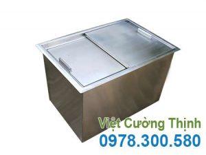 Thùng đá inox âm bàn, thùng chứa đá inox âm quầy bar giá tốt tại xưởng VCT