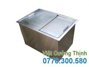 Thùng đá inox âm bàn, thùng chứa đá inox âm quầy giá tốt tại xưởng VCT.