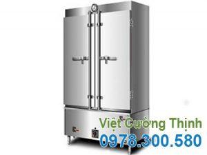 tủ nấu cơm công nghiệp bằng gas và điện 80kg