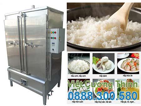tủ nấu cơm bằng điện và gas 120kg