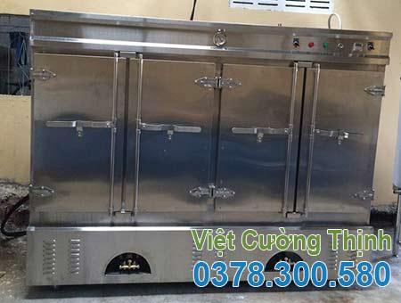Tủ nấu cơm công nghiệp bằng điện và gas 160kg