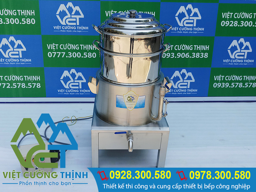Báo giá nồi hấp bánh bao bằng điện, nồi hấp bánh bao sử dụng điện, xửng hấp bánh bao bằng điện giá tại xưởng sản xuất. Liên hệ Inox Việt Cường Thịnh.