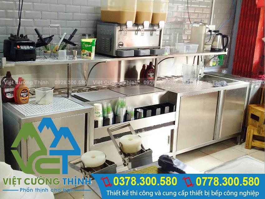 Quầy cafe trà sữa bằng inox 304