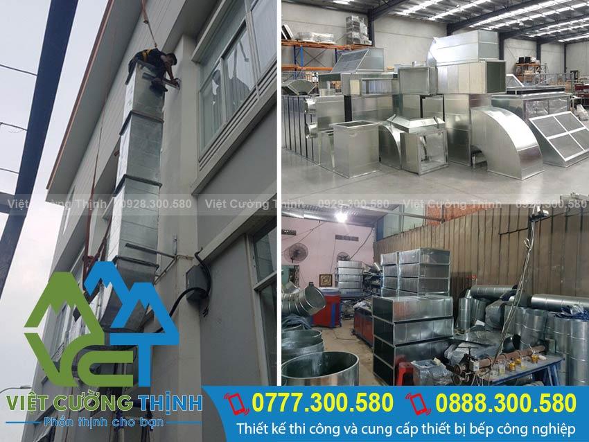 Đường ống hút khói bếp inox công nghiệp