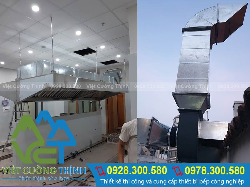 Lắp đặt hệ thống thông gió hút khói nhà bếp