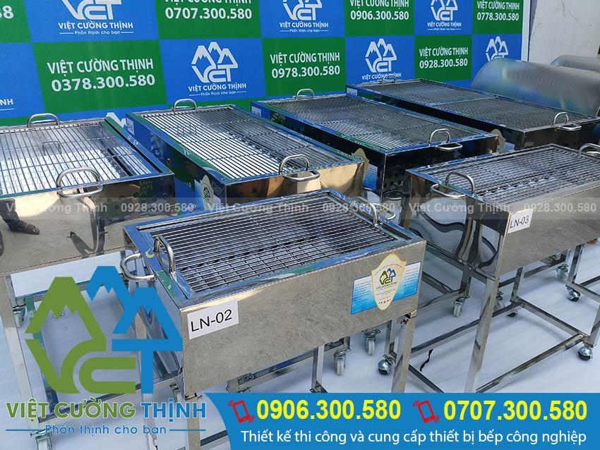 Lò nướng than inox BBQ, VCT là đơn vị sản xuất lò nướng than inox không khói, bếp nướng bbq các loại theo đơn đặt hàng của quý khách hàng.