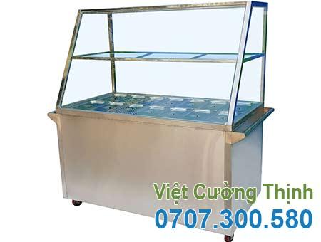 tủ hâm nóng thức ăn 14 khay, tủ trưng bày hâm nóng thức ăn 14 khay giá tốt tại VCT.