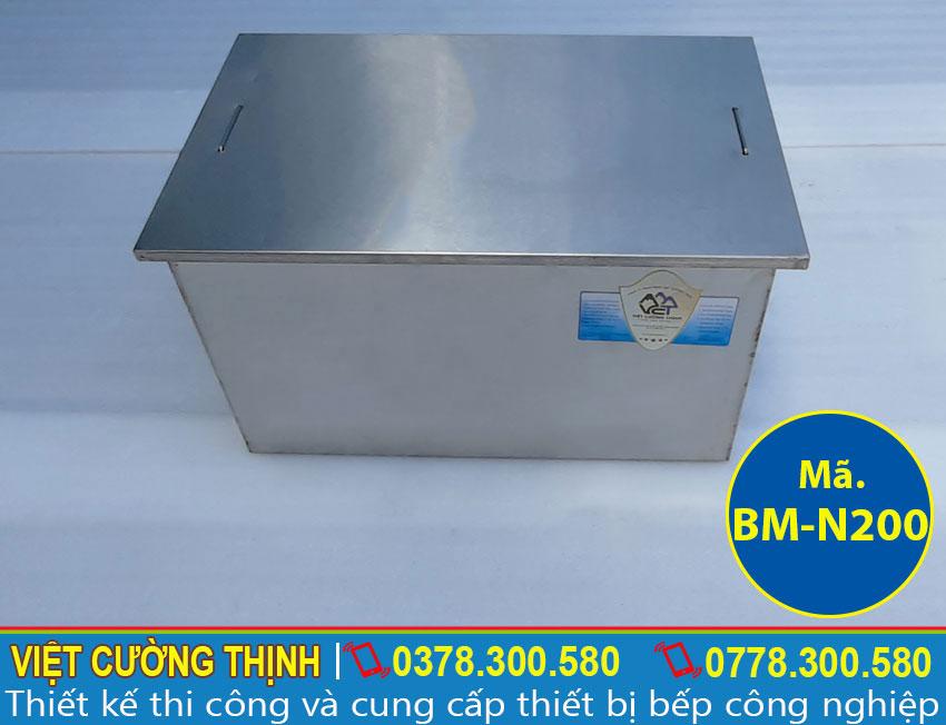 Bẫy tách mỡ inox, thùng lọc dầu mỡ inox 304 chất lượng