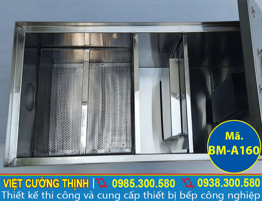 Thùng lọc dầu mỡ inox công nghiệp giá tốt tại Việt Cường Thịnh