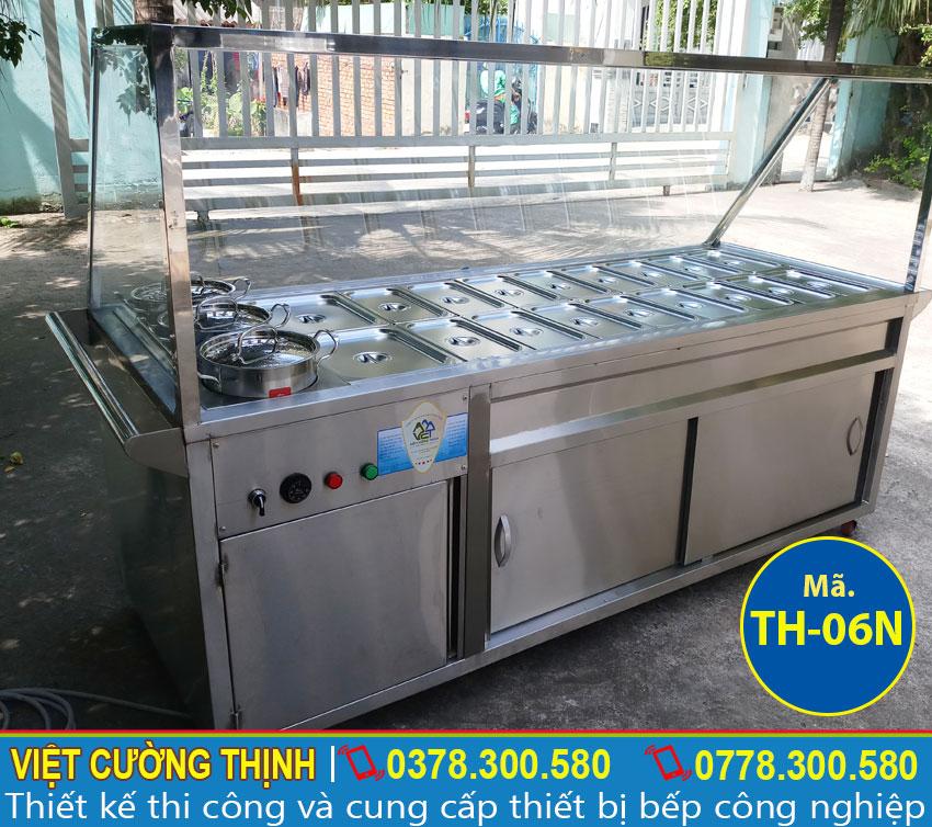 Địa chỉ bán tủ hâm nóng thức ăn 18 khay + 3 nồi TH-06N