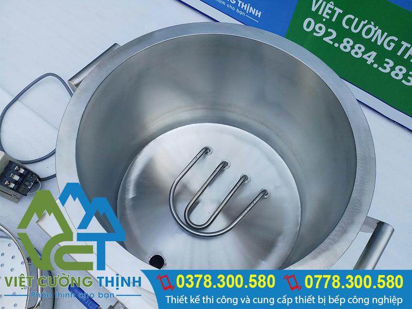 Liên hệ VCT báo giá nồi hấp công nghiệp bằng điện cho mục đích làm: nồi hấp xôi bằng điện [ xửng hấp xôi bằng điện ] nồi hấp bánh bao bằng điện, nồi điện hấp cơm tấm.