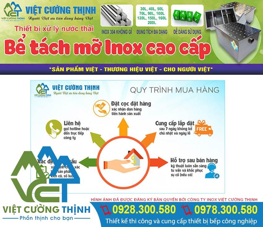 Địa chỉ mua bể tách mỡ inox giá tốt, Sản phẩm bể tách mỡ inox 3 ngăn chất liệu inox 304 chất lượng tại tại VCT.