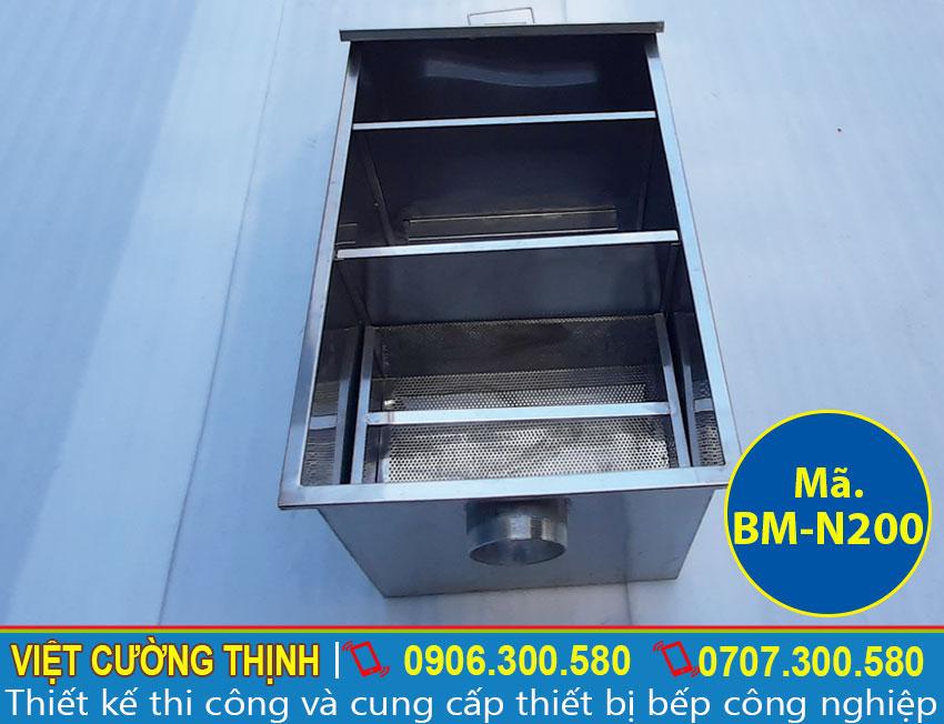 Bể tách mỡ nhà bếp, bể tách mỡ nhà hàng, hộp lọc mỡ, thùng lọc mỡ kích thước đa dạng được VCT sản xuất theo yêu cầu.