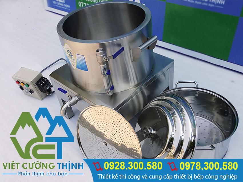 Nồi hấp cong nghiệp bằng điện, nồi hấp điện công nghiệp giá tốt tại xưởng Inox Việt Cường Thịnh.