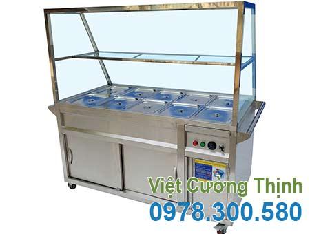 Tủ hâm nóng thức ăn 10 khay, tủ hâm nóng, tủ hâm nóng thực phẩm, tủ giữ nóng thức ăn giá tốt tại VCT.