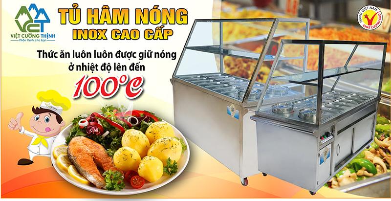 Tủ hâm nóng thức giá tốt, quầy giữ nóng thức ăn, quầy trưng bày hâm nóng thức ăn giá tốt tại VCT.