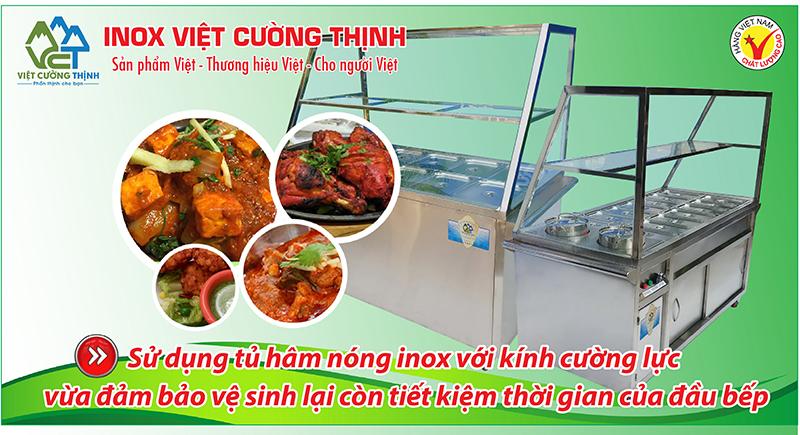 Quầy trưng bày hâm nóng thức ăn, quầy trưng bày giữ nóng thức ăn rất an toàn vệ sinh thực phẩm có giá trị kinh tế cao.