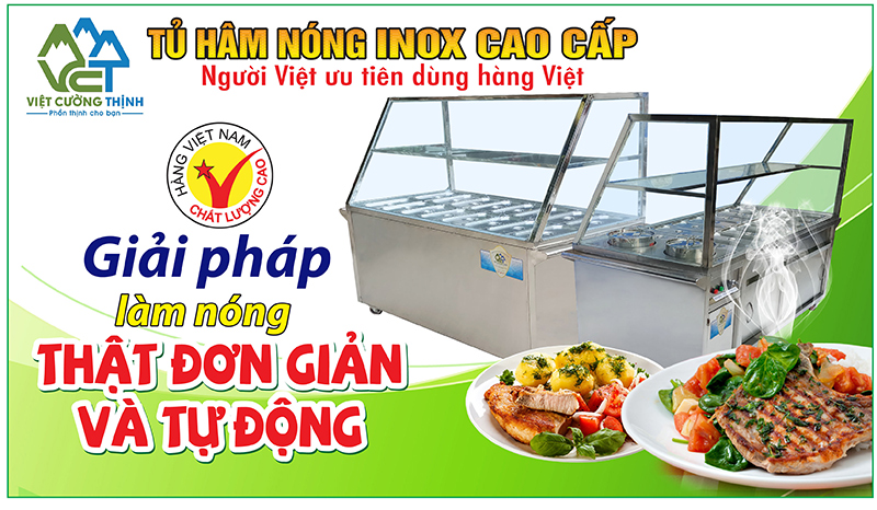Tủ hâm nóng thức ăn giá tốt tại VCT rất được nhiều khách hàng quan tâm bởi chất lượng giá xưởng.