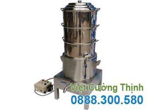 Nồi hấp cơm tấm bằng điện 3 tầng, xửng hấp cơm tấm cách thủy công nghiệp tại xưởng sản xuất VCT.