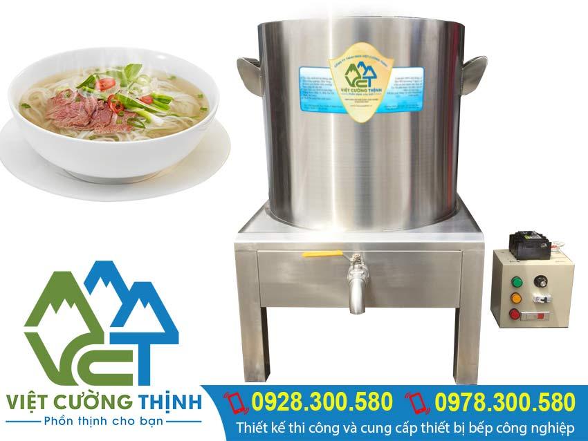 Nồi nấu phở điện inox Việt Cường Thịnh