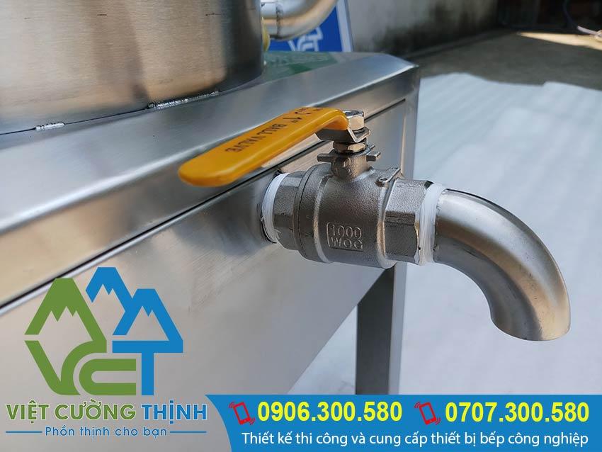 Van xã nồi hấp cơm tấm bằng điện, nồi hấp điện công nghiệp dùng hấp cơm tấm, hấp xôi, hấp hải sản chất lượng.