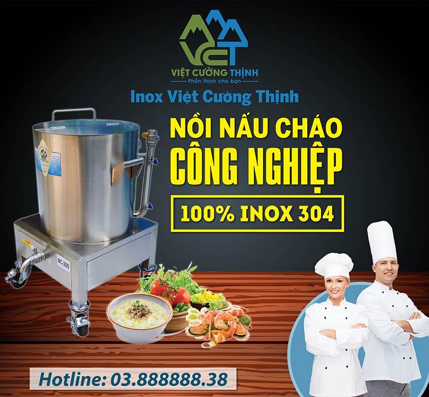 Báo giá nồi nấu cháo công nghiệp bằng điện giá gốc tại xưởng sản xuất Inox Việt Cường Thịnh. Liên Hệ chúng tôi ngay.