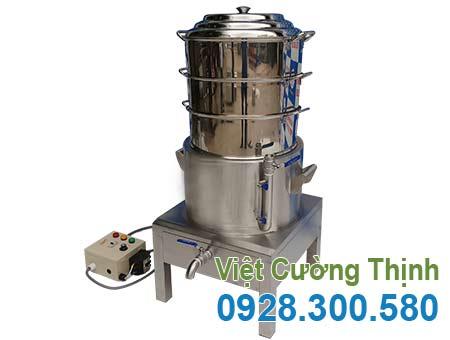 Nồi hấp bánh bao 3 tầng bằng điện công nghiệp mua tại Inox VCT giá xưởng.