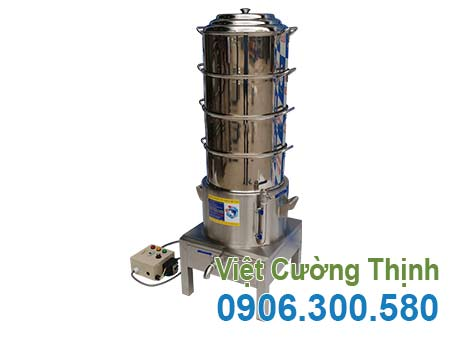 nồi hấp bánh bao công nghiệp bằng điện 4 tầng giá tốt tại Việt Cường Thịnh