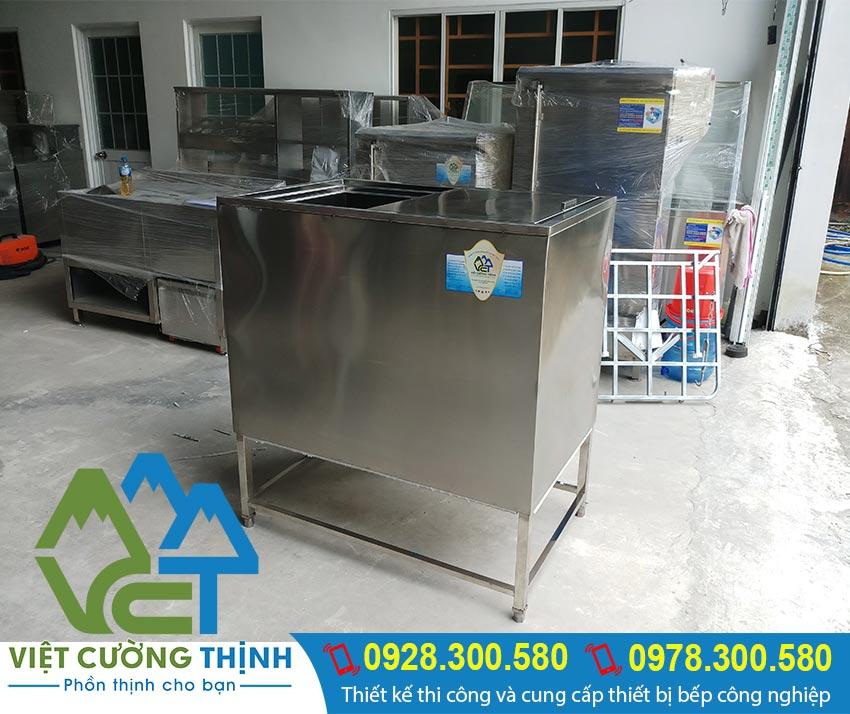 Thùng đá inox 304 tại xưởng sản xuất của đơn vị Inox Việt Cường Thịnh chúng tôi.