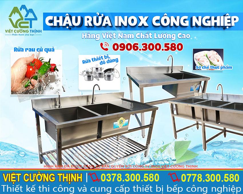 Báo giá chậu rửa inox công nghiệp, Mẫu chậu rửa inox 304 được rất nhiều nhà hàng và bếp công nghiệp lựa chọn.