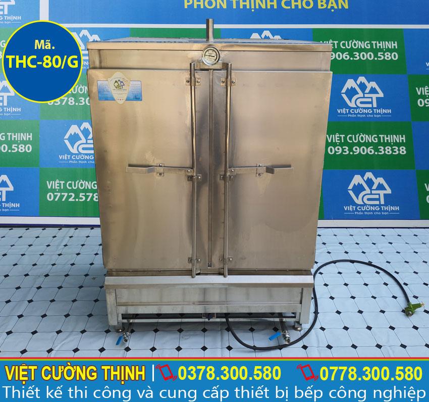 Địa chị cung cấp tủ nấu cơm công nghiệp 80kg sử dụng gas