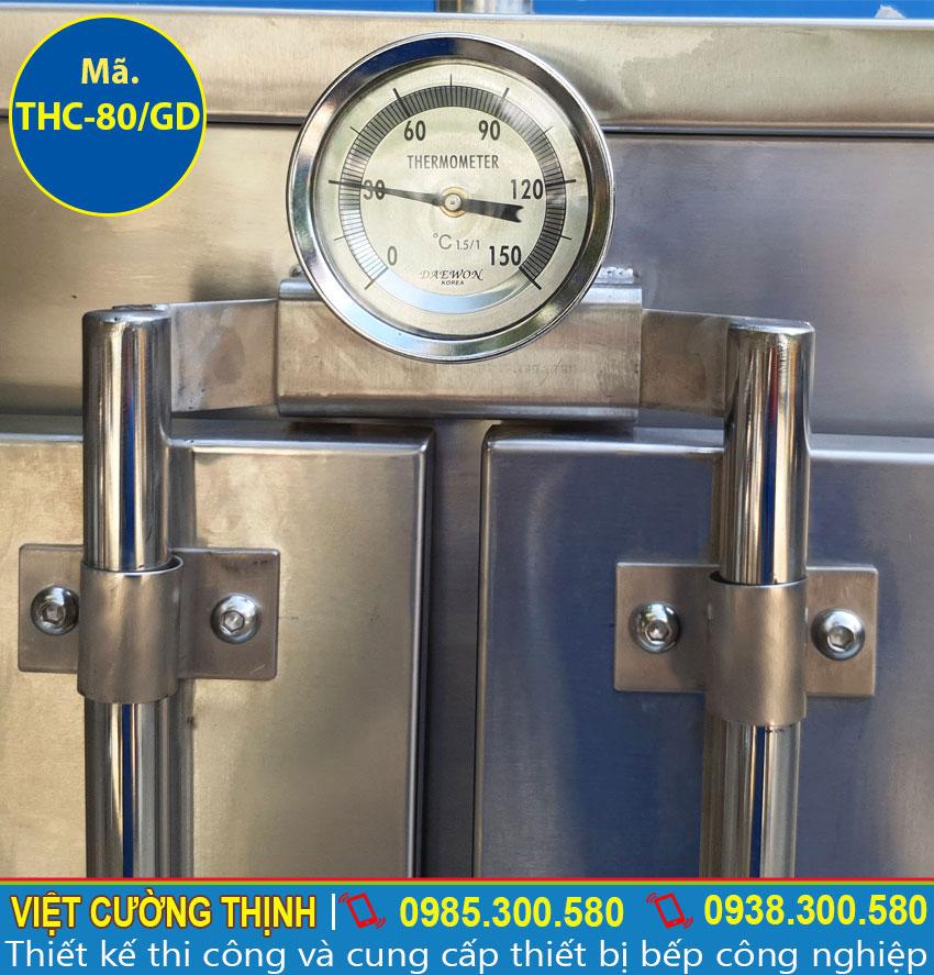 Đồng hò nhiệt tủ hấp cơm sử dụng điện và gas