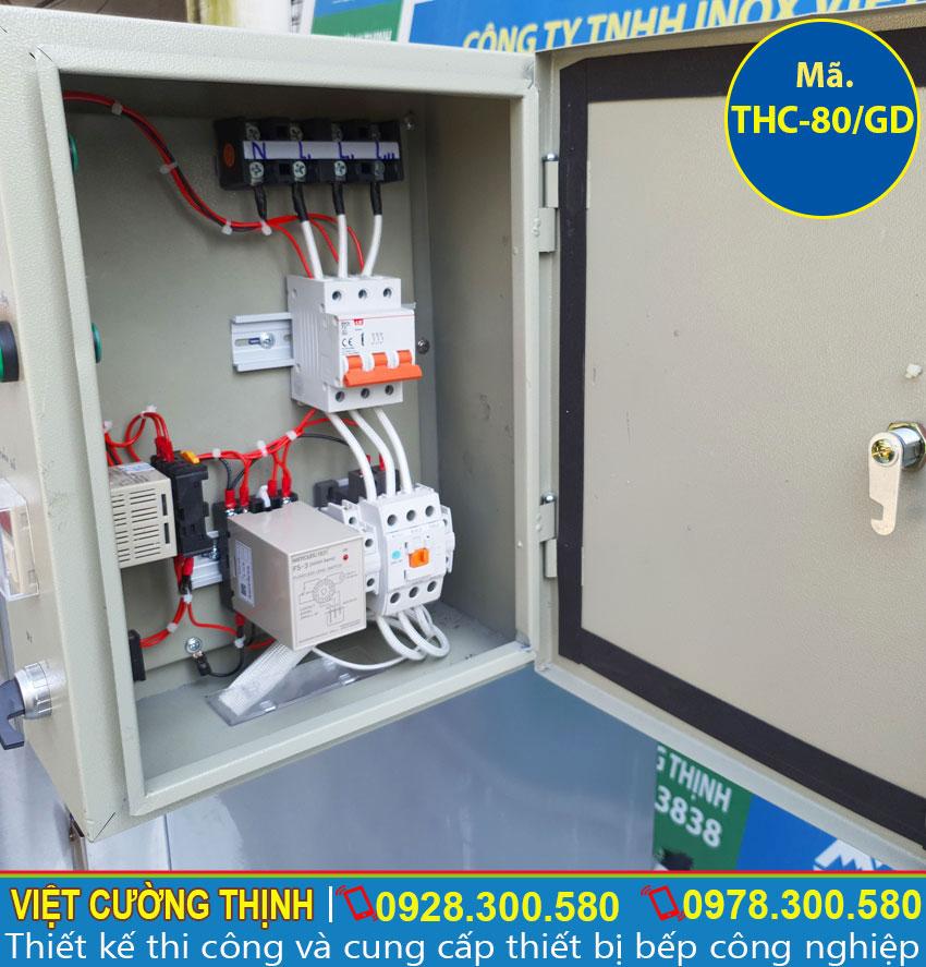 Hộp điện tủ hấp cơm sử dụng điện và gas