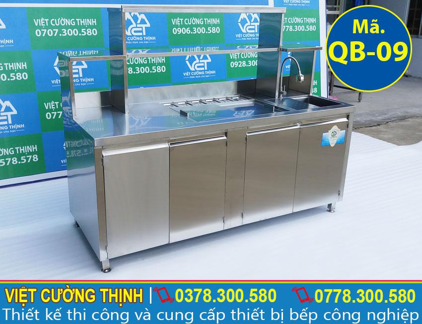 Mẫu quầy pha chế trà sữa qb-09 cao cấp giá tốt