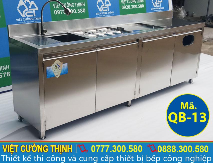Mẫu thiết kế quầy bar inox qb-13 giá tốt
