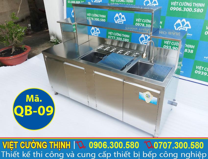 quầy bar pha chế trà sữa qb-09 giá tốt tại tphcm