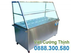 Quầy hâm nóng thức ăn công nghiệp 18 khay TH-06.