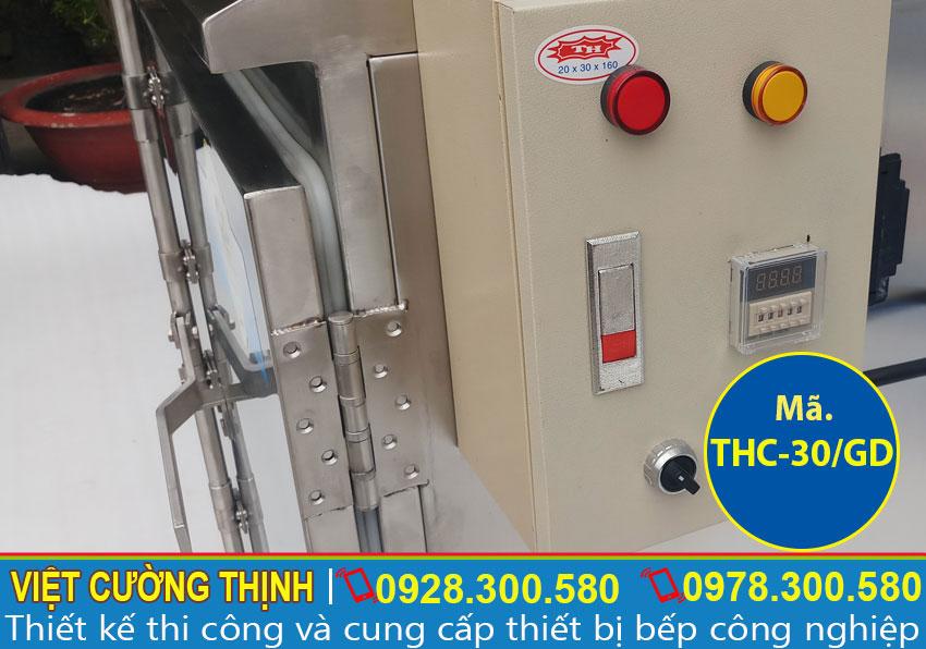 Tủ điện ủ nấu cơm 30kg sử dụng điện và gas