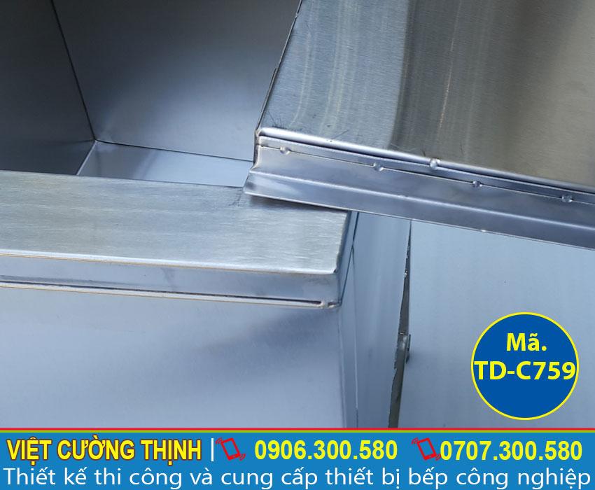 Thiết kế tủ đựng đá theo yêu cầu khách hàng, tủ đá inox 304 cao cấp