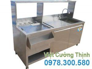 Quầy Bar Pha Chế Inox QB-01