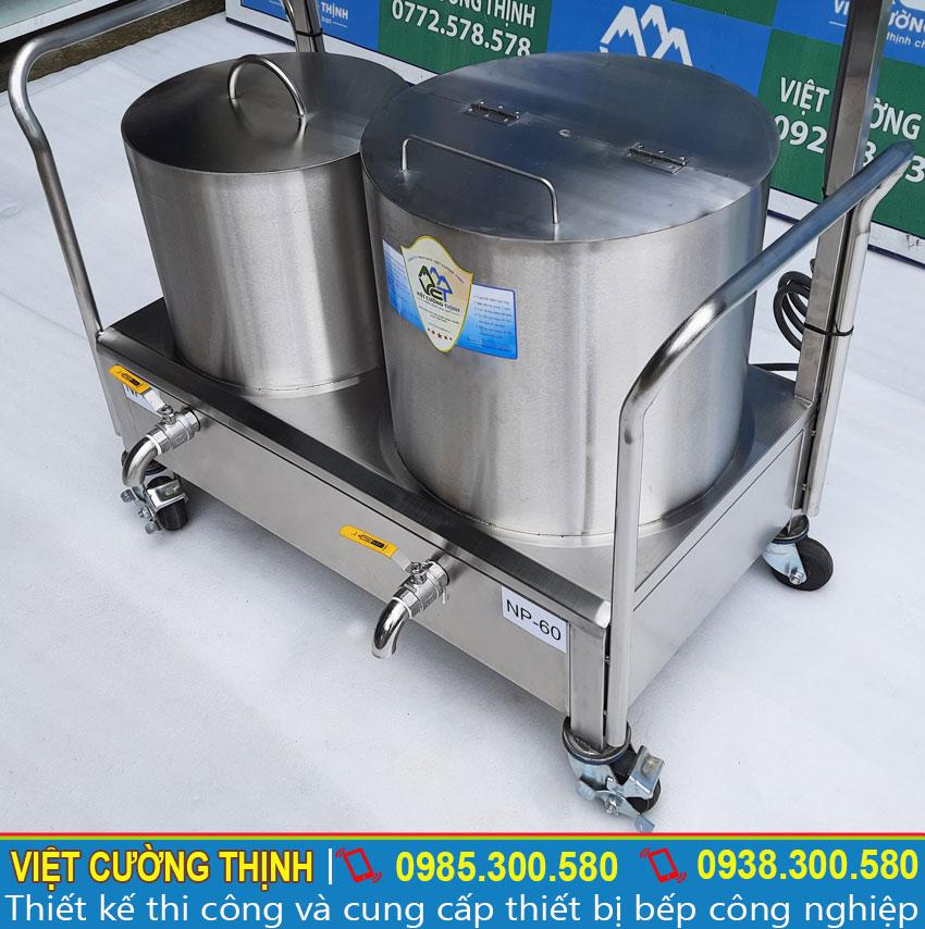 Bộ 2 nồi điện nấu phở công nghiệp được gia công tại xưởng Inox Việt Cường Thịnh