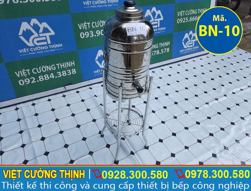 Báo giá bình nước đá inox 10L, bình đựng nước đá inox 304
