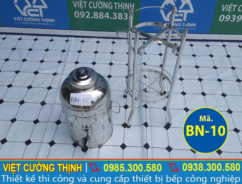 Chân bình nước đá inox 10L
